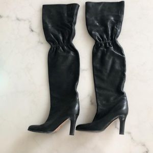 JIMMY CHOO Over-the-Knee Leather Boots